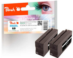 Peach remanufactured alternativní cartridge HP 953XL (L0S70AE) TwinPack černá / 2x59 ml / new chip