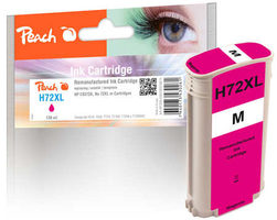 Peach remanufactured alternativní cartridge HP 72XL (C9372A) purpurová / 138 ml / new chip