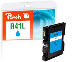 Peach remanufactured alternativní cartridge Ricoh GC41CL (405766) modrá / 28 ml / ink level chip