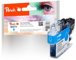 Peach alternativní cartridge Brother LC-3211 modrá / pro DCP-J772 & MFC-J890 / 6ml / new chip