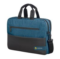 "Samsonite American Tourister CITY DRIFT LAPTOP BAG 15.6"" černo-modrá / Brašna na tablet a notebook"