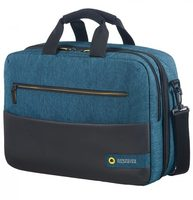 "Samsonite American Tourister CITY DRIFT 3-WAY BOARDING BAG 15.6"" černo-modrá / Brašna batoh na notebook"