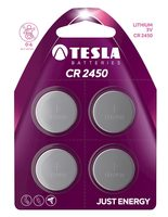 TESLA CR2450 baterie 4ks