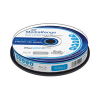 MediaRange BD-R BLU-RAY 50GB 6x Dual Layer spindl 10ks / Inkjet Printable