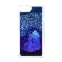 GUESS Liquid Glitter Hard Pouzdro Degrade pro Apple iPhone 6 & 6S & 7 Plus modrá