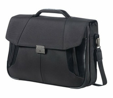 "Samsonite XBR BRIEFCASE 2 GUSSETS 15.6"" / Brašna na notebook a tablet / černá"