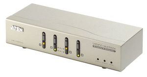 ATEN 4 port Matrix video switch / 2x PC - 4x monitor (2 vstupy - 4 výstupy)