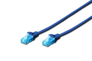 DIGITUS Ecoline Patch Cable modrý 5m / UTP / CAT 5e / AWG 26:7