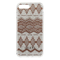 GUESS Ethnic Chic Tribal 3D TPU Pouzdro pro Apple iPhone 7 Plus / vzor Taupe