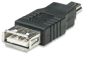 Manhattan Hi-Speed USB adapter A female to Mini-B male / černý
