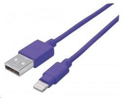 Manhattan iLynk Lightning Cable 1 m pro iPad/iPhone / fialový