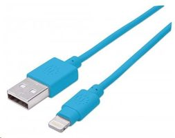 Manhattan iLynk Lightning Cable 1 m pro iPad/iPhone / modrý