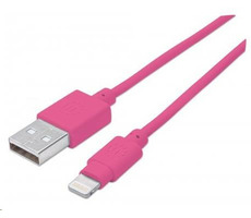 Manhattan iLynk Lightning Cable 1 m pro iPad/iPhone / růžový