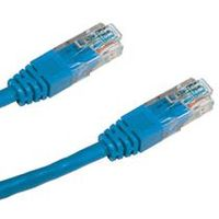 PremiumCord Patch kabel UTP RJ45-RJ45 CAT6 10m modrá