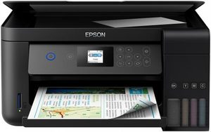 EPSON L4160 / 3in1 / CIS / A4 / 33ppm black / 4ink / USB / Wi-Fi / LCD touch-panel / SD reader / Tank system