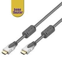 Home Theater HQ kabel HDMI male <> HDMI male, zlacené, HDMI 1.3b, ferrity 1m
