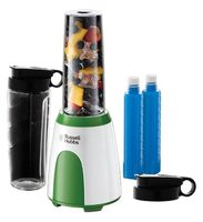 Russell Hobbs 25160-56 Explore Mix&Go Cool / smoothie mixér / 300 W / 1 rychlost / 2x 600 ml lahev + 2x chladicí trubice
