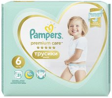 Pampers Premium Care Extra Large (31 ks) / Pleny / Velikost 6 (15+ kg)