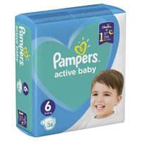 Pampers Active Baby Extra Large (36 ks) / Pleny / Velikost 6 (13-18 kg)