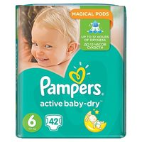 Pampers Active Baby Maxi Pack Extra Large (42 ks) / Pleny / Velikost 6 (15+ kg)