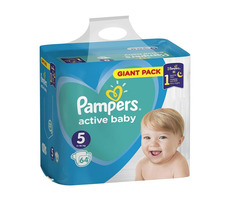Pampers Active Baby Giant Pack Junior (64 ks) / Pleny / Velikost 5 (11-16 kg)