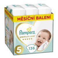 Pampers Premium Care Monthly Pack Junior (136 ks) / Pleny / Velikost 5 (11-16 kg)
