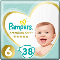 Pampers Premium Care Value Pack Extra Large (38 ks) / Pleny / Velikost 6 (13+ kg)