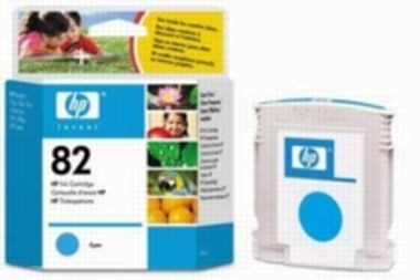 HP C4911A No. 82 Cyan Ink Cart pro DJ 500/800, 69 ml