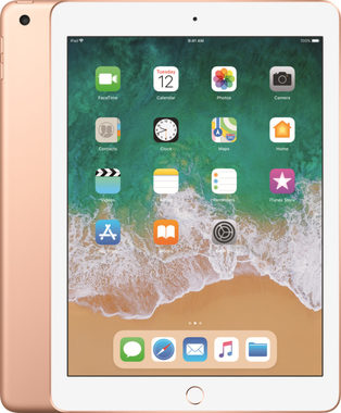 "Apple iPad Wi-Fi + Cellular 128GB (2018) Gold / 9.7""/ 2048x1536 / WiFi / 10h výdrž / 2x kamera / iOS11.3"
