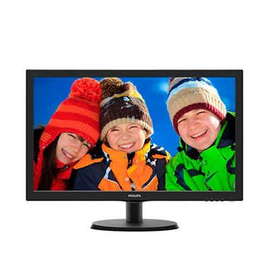 "LCD Monitor 21.5"" PHILIPS 223V5LHSB-00 / 1920x1080 / LED / 16:9 / 5ms / 10M:1 / 250cd-m2 / VGA+HDMI / Černý"