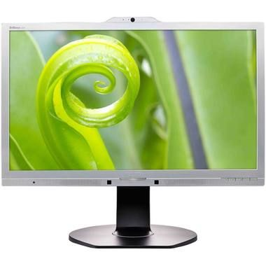 "LCD Monitor 23.8"" PHILIPS 241P6QPJKES/00/ LED / 1920 x 1080  / 14ms / 20mil:1 / 250cd-m2 / DVI+VGA+DP / USB / Repro / stříbrná"