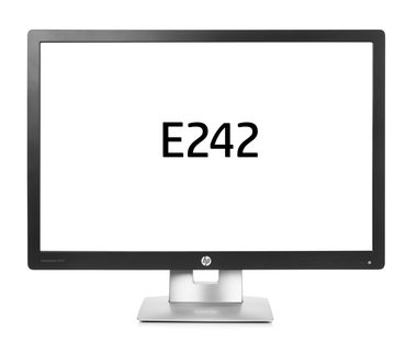 "LCD Monitor 24"" HP EliteDisplay E242 / IPS / 1920x1200 / 1000:1 / 7ms / 250 cd / VGA / DP / HDMI / USB / černá"