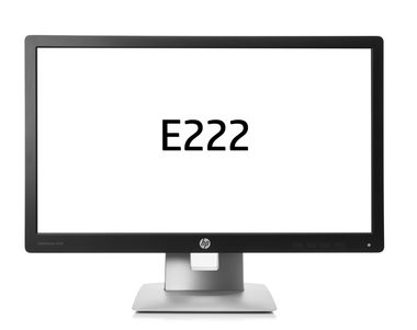 "LCD Monitor 21.5"" HP EliteDisplay E222 / IPS / 1920x1080 FHD / 1000:1 / 7ms / 250cd / VGA / DP / HDMI / USB / PIVOT / černá"