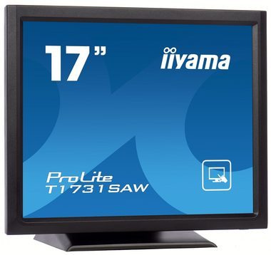 "LCD Monitor 17"" IIYAMA T1731SAW / TN / 1280x1024 / 230cd-m2 / 1000:1 / 5ms / DVI / USB / RS-232 / repro / černá"