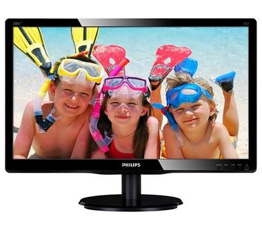 "LCD Monitor 19"" PHILIPS 200V4LAB2 / LED / 1600 x 900 / TN / 16:9 / 5ms / 600:1 / 200cd/m2 / VGA+ DVI-D / VESA / repro / Černý"