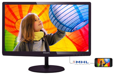 "LCD Monitor 22"" PHILIPS 227E6LDSD / 1920x1080 / W LED / 16:9 / 1ms / 1000:1 / 250cd-m2 / VGA+DVI / VESA / Černý"