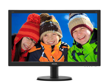 LCD Monitor 24' PHILIPS 240V5QDAB / ADS-IPS / 1920 x 1080  / 5ms / 1000:1 / 250cd-m2 / DVI+VGA+HDMI / Repro / VESA / Černý