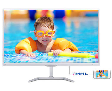 "LCD Monitor 27"" PHILIPS 276E7QDSW / LED / 1920x1080 / 16:9 / 5ms / 1000:1 / 250cd-m2 / VGA+DVI+HDMI / VESA / Bílý"
