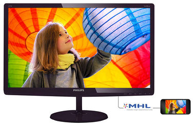 "LCD Monitor 27"" PHILIPS 277E6LDAD-FHD / TN LED / FHD / 16:9 / 1ms / 1000:1 / 300cd / VGA+HDMI+DVI / repro / Černý"