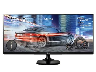 "LCD Monitor 34"" LG 34UM58-P / IPS panel / UltraWide / WQHD / 2560x1080 / 21:9 / 250cd / 5ms / HDMI / DVI / Černý"