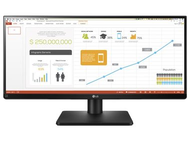 "LCD Monitor 29"" LG 29UB67-B / IPS / UltraWide / 2560x1080 / 5M:1 / 300cd / 5ms / HDMI / DP / DVI / VESA / Černý"