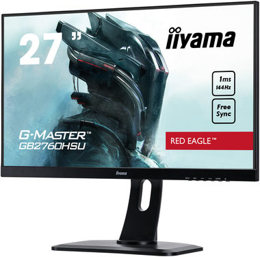 "LCD Monitor 27"" IIYAMA G-MASTER GB2760HSU-B1 / TN / 1920x1080 / 1000:1 / 400cd / 1ms / HDMI+DP / VESA"