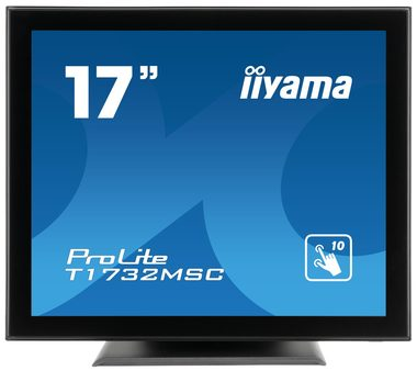 "LCD Monitor 17"" IIYAMA ProLite T1732MSC-B5X / 1280 x 1024 / 5ms / 225cd / VGA+HDMI+DP / USB / IP54"