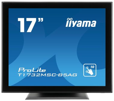 "LCD Monitor 17"" IIYAMA ProLite T1732MSC-B5AG / TNT LED / PCAP / 1280x1024 / 225cd-m2 / 1000:1 / 5ms / VGA+DP+HDMI / USB / repro"