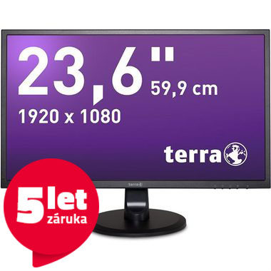"LCD Monitor 23.6"" TERRA LED 2447W GREENLINE PLUS černá / LED / 1920 x 1080 / MVA / 16:9 / 5ms / 30M:1 / 250cd-m2 / DVI+HDMI / VESA"