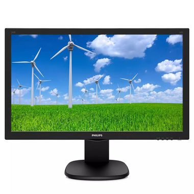"LCD Monitor 23.6"" PHILIPS 243S5LHMB / TFT / 1920 x 1080 / 16:9 / 1ms / 250cd-m2 / 1000:1 / VGA+HDMI / VESA / Repro"