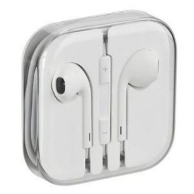 Apple HF EarPods iPhone 5 MD827ZM/A stereo / sluchátka / OEM / bílá