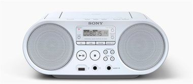 SONY mp3 a CD ZS-PS50CP / rádio / CD / MP3 / USB / AUX / bílá