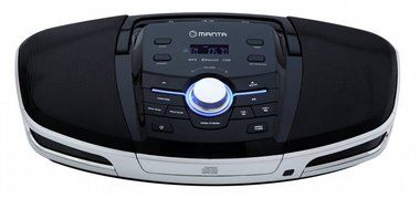 MANTA MM272 / Boombox Cosmos BT / CD / FM / USB / AUX / bluetooth / 2 x 10W / LCD displej / černo-stříbrný