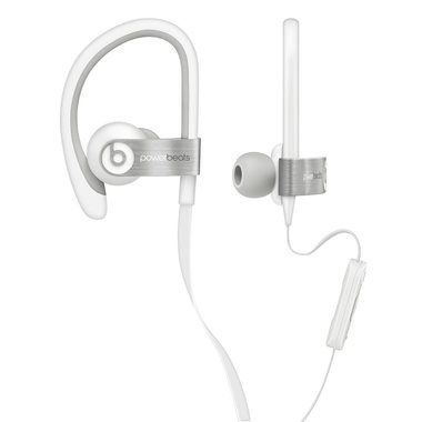 Apple Beats PowerBeats In-Ear Headphones / drátová / mikrofon na kabelu / bílý